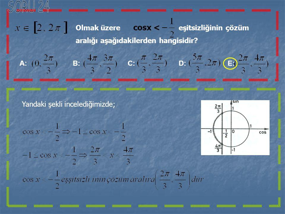 Verileri şekildeki gibi olan yandaki üçgende ; A: B: C: D: E: ABC üçgeninde;