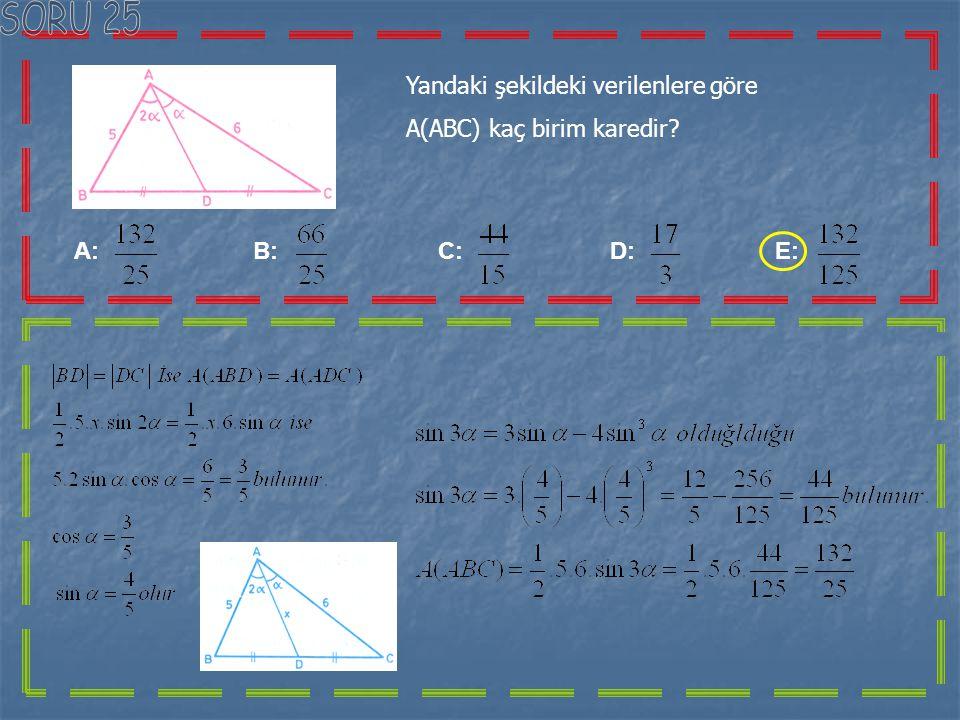 Olmak üzere cosx < eşitsizliğinin çözüm aralığı aşağıdakilerden hangisidir? A: B: C: D: E: Yandaki şekli incelediğimizde;