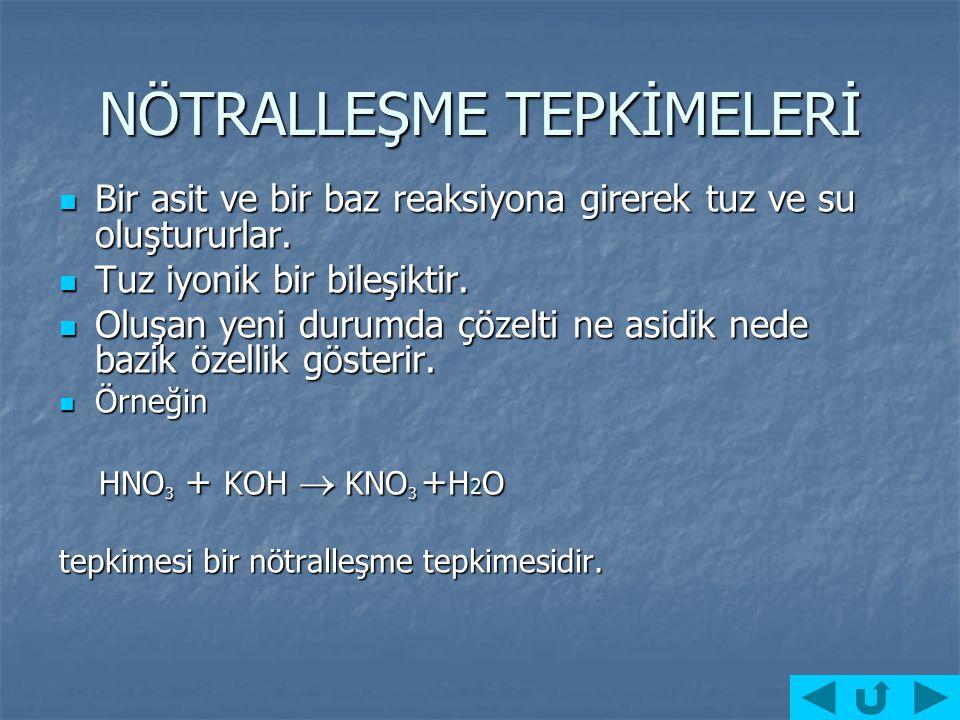NÖTRALLEŞME NÖTRALLEŞMETİTRASYON