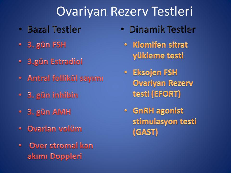 Ovariyan Rezerv Testleri