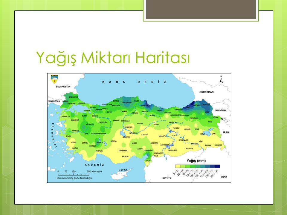 Yağış Miktarı Haritası