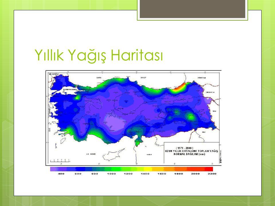  Türkiye'de en fazla yağış alan bölge, Doğu ve Batı Karadeniz bölümleri ile bazı Batı ve Doğu Anadolu dağlarıdır.