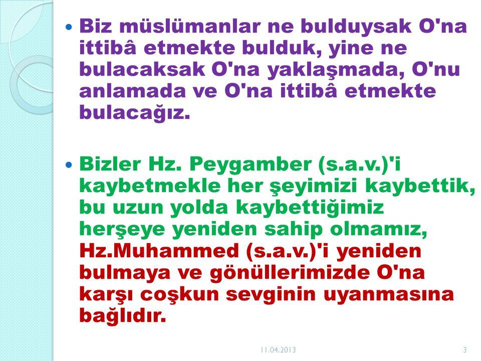 Hz.Peygamber (s.a.v) in emrine itaat etmemek, O na sırt çevirmek, Allah ın emrine isyandır.
