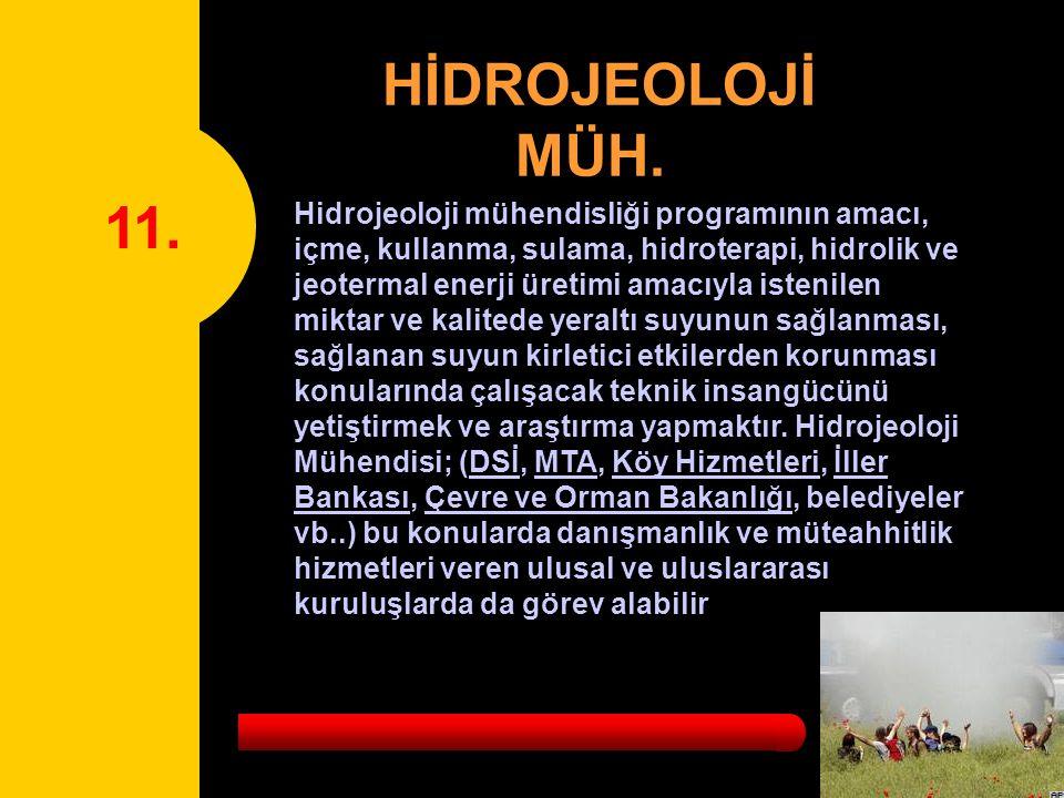 11.HİDROJEOLOJİ MÜH.