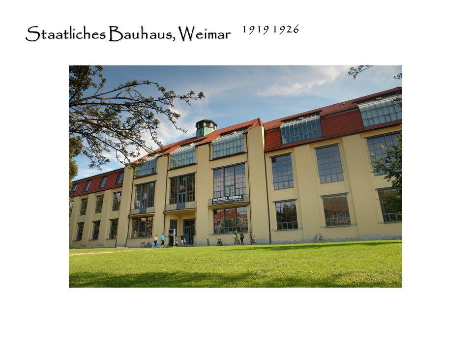 Staatliches Bauhaus, Weimar 1919 1926