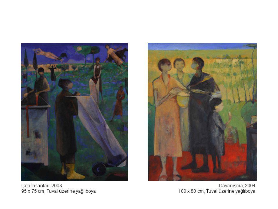 Köpekli Kız, 2002 100 x 81 cm, Tuval üzerine yağlıboya Bayram Yeri, 2008 100 x 81 cm, Tuval üzerine yağlıboya