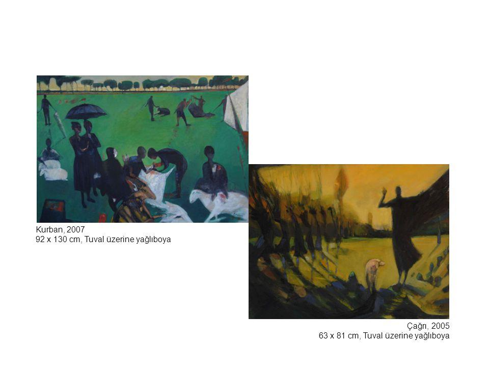 Mars'a Veda, 2003 116 x 89 cm, Tuval üzerine yağlıboya Çöp İnsanı, 2005 92 x 60 cm, Tuval üzerine yağlıboya