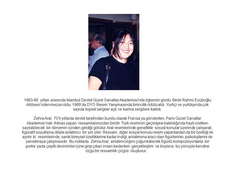 Bekleyiş, 1999 80 x 65 cm, Tuval üzerine yağlıboya Kırmızı Kurdeleli Kız, 2007 100 x 81 cm, Tuval üzerine yağlıboya
