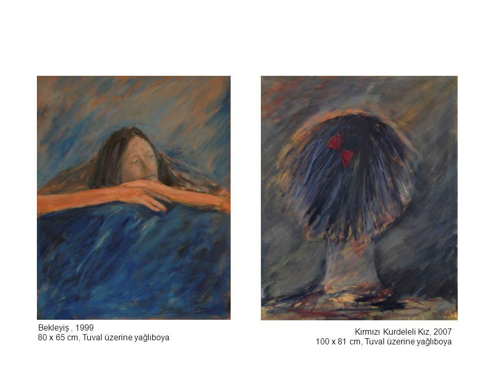 Belikli Kız, 2005 92 x 73 cm, Tuval üzerine yağlıboya Bakire Serisi'nden Portre, 2001 70 x 50 cm, Tuval üzerine yağlıboya