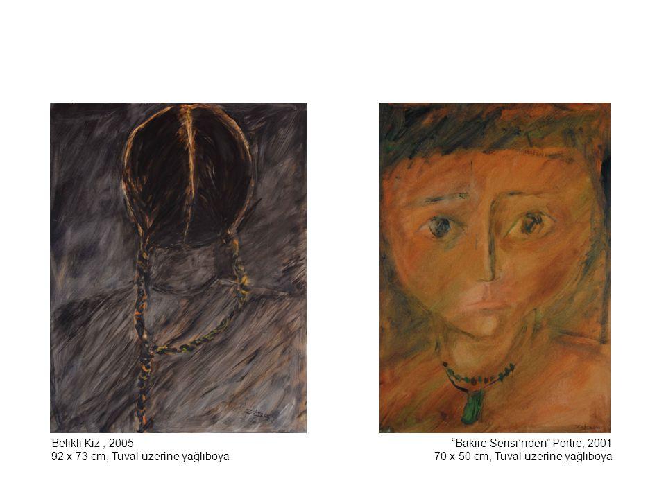 Bakire Serisi'nden Portre, 2002 130 x 92 cm, Tuval üzerine yağlıboya Bakire Serisi'nden Portre, 2002 130 x 97 cm, Tuval üzerine yağlıboya