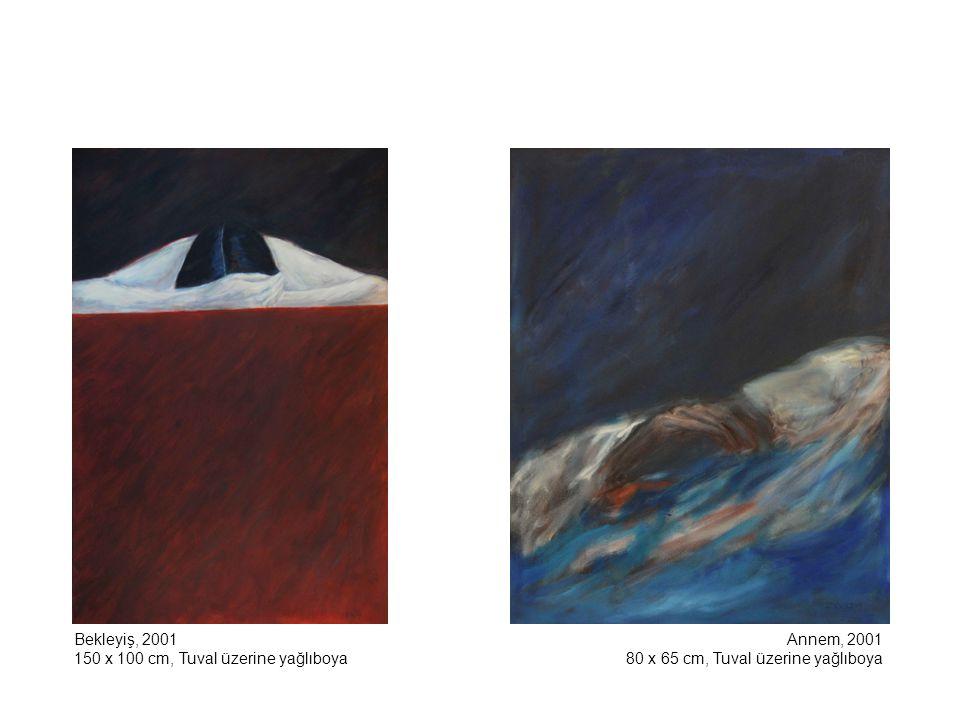 Bakire Serisi'nden Kayboluş-Triptik, 2001 130 x 97 cm x 3, Tuval üzerine yağlıboya