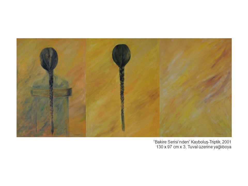 İsimsiz, 1996 110 x 90 cm, Tuval üzerine yağlıboya Belikli Kız, 2005 35 x 25 cm, Tuval üzerine yağlıboya