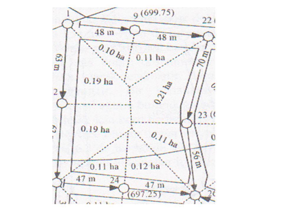Böylece oluşan üçgen ve yamuk parseller ilgili boru hattına ait hizmet alanını oluşturur.