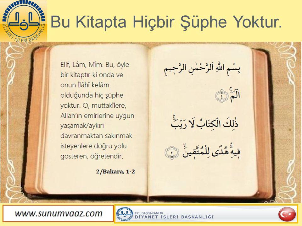 Kur'an Öğüt, Yol Gösterici ve Şifadır
