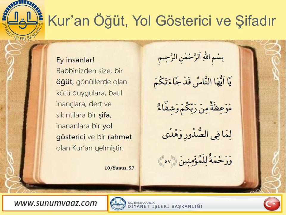 Kur'an Bütün İhtilafları Çözer.