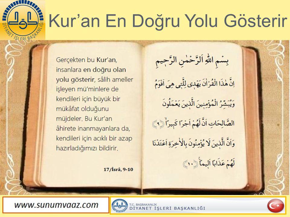 Kur'an Allah'ın Gönderdiği Kitaptır
