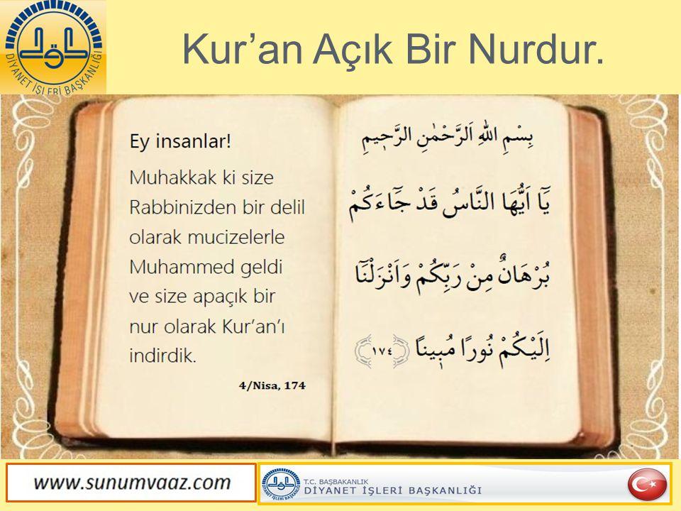 Kur'an'da Her Türlü Misal Vardır.