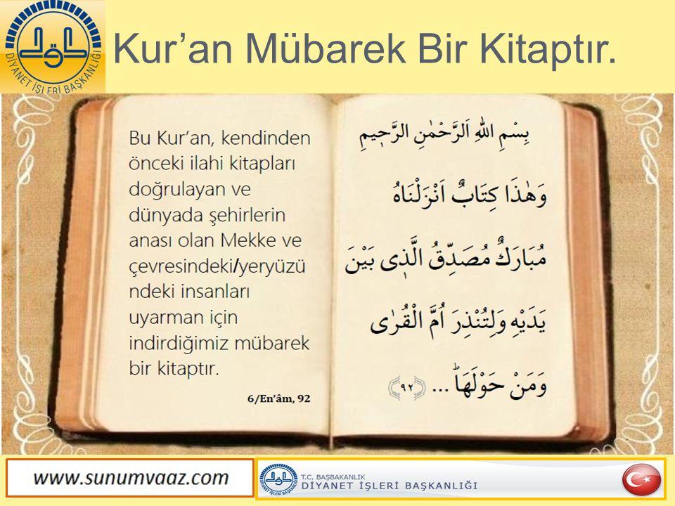 Kur'an'ın Aslı Lehv-i Mahfûz'dadır.