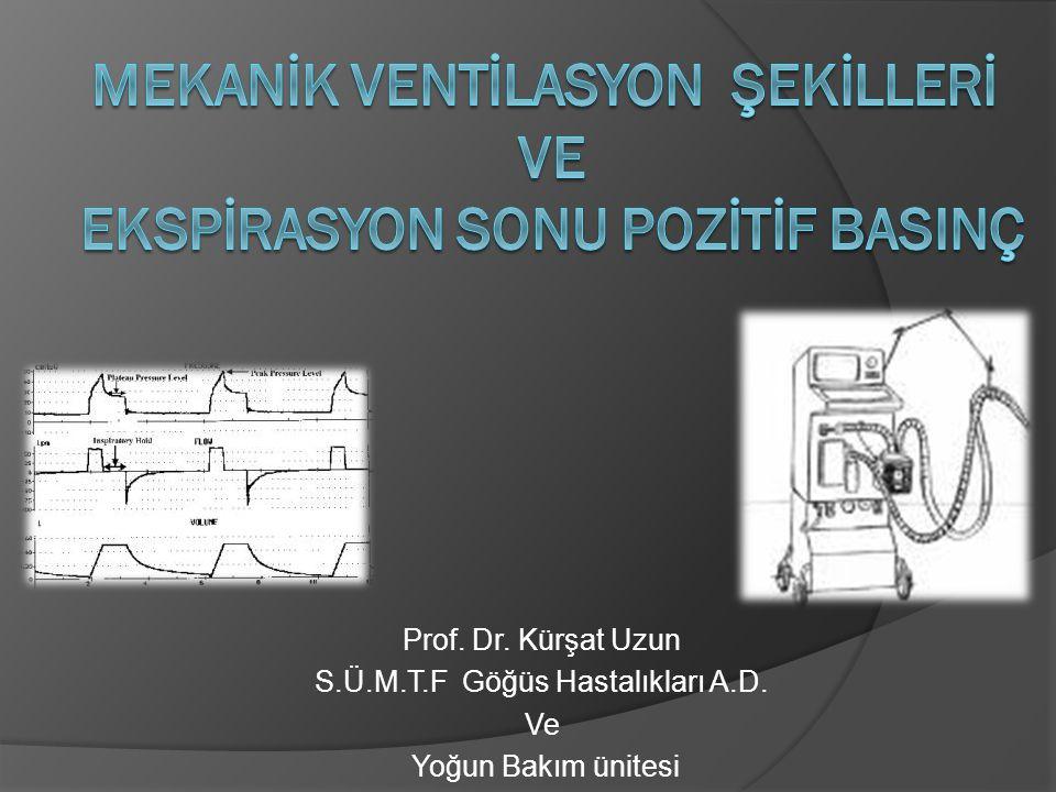 Prof. Dr. Kürşat Uzun S.Ü.M.T.F Göğüs Hastalıkları A.D. Ve Yoğun Bakım ünitesi