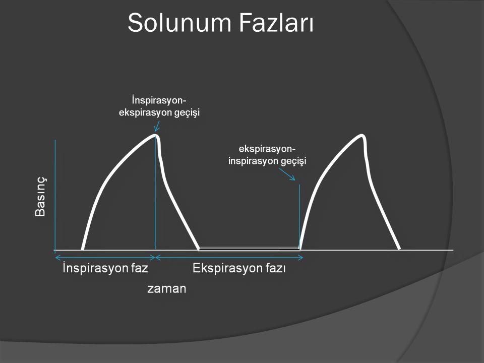 Faz değişkenleri  Trigger (tetikleyici): inspirasyonu başlatma -Basınç -Volüm -Akım -Zaman  Limit (sınırlayıcı): değişkenin ulaşabileceği maksimum değerdir.