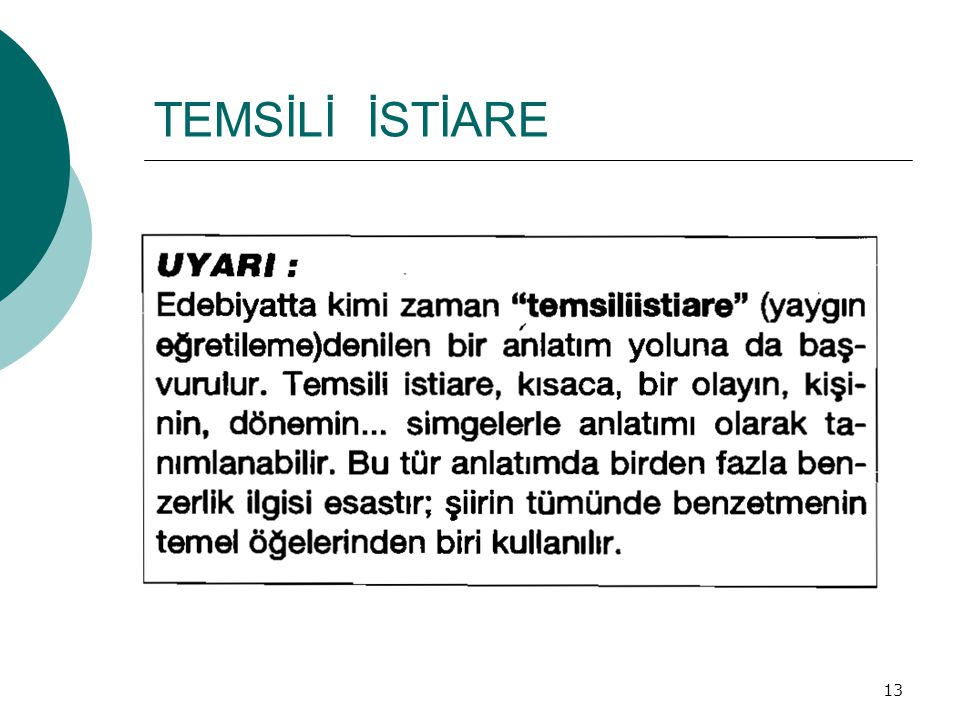 TEMSİLİ İSTİARE 13