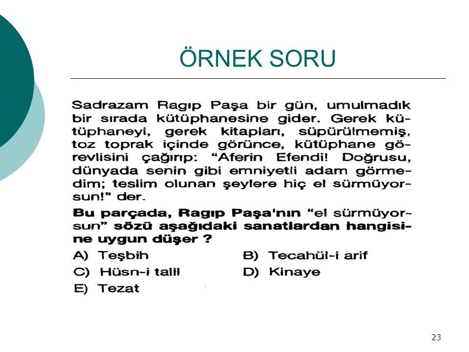 ÖRNEK SORU 23