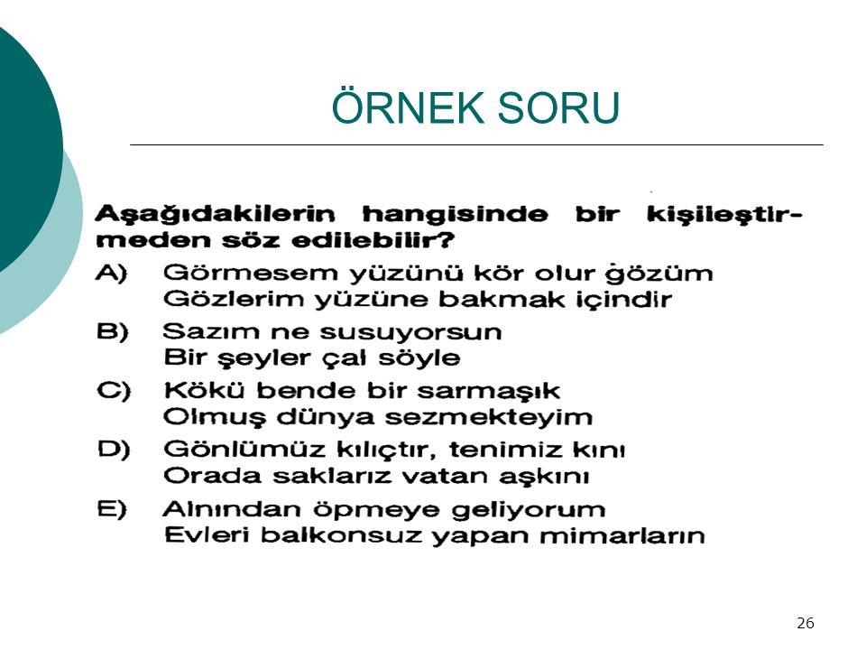 ÖRNEK SORU 26