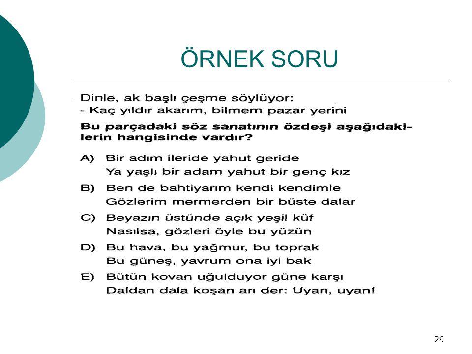 ÖRNEK SORU 29