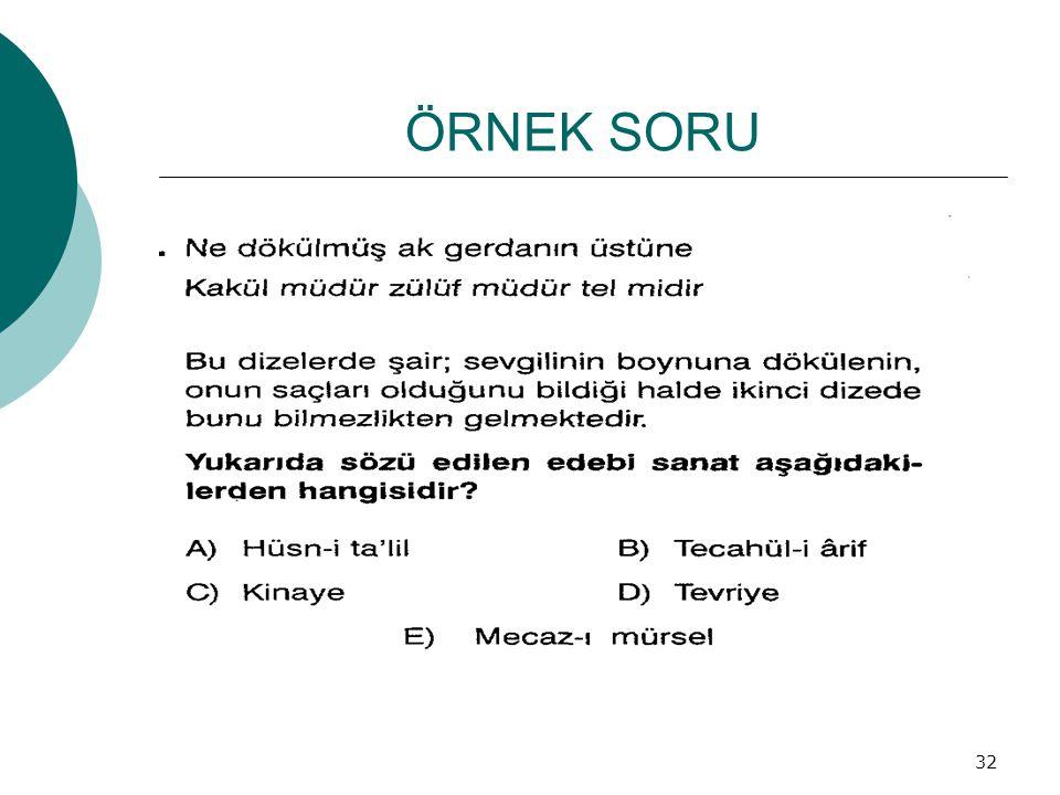ÖRNEK SORU 32