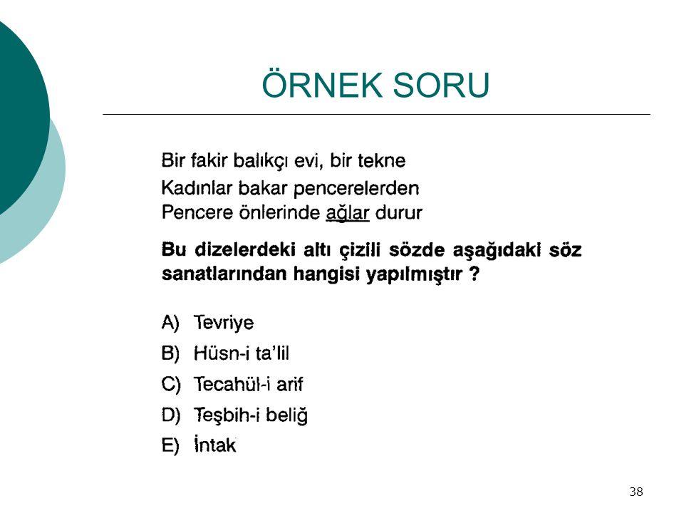 ÖRNEK SORU 38