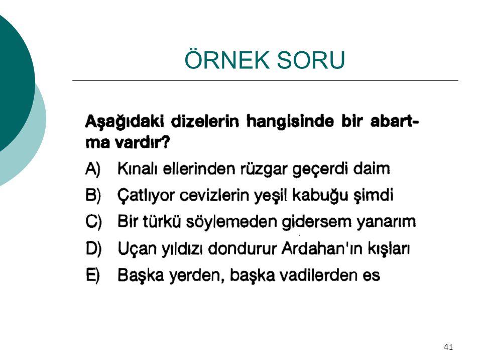 ÖRNEK SORU 41