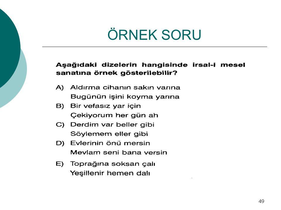ÖRNEK SORU 49