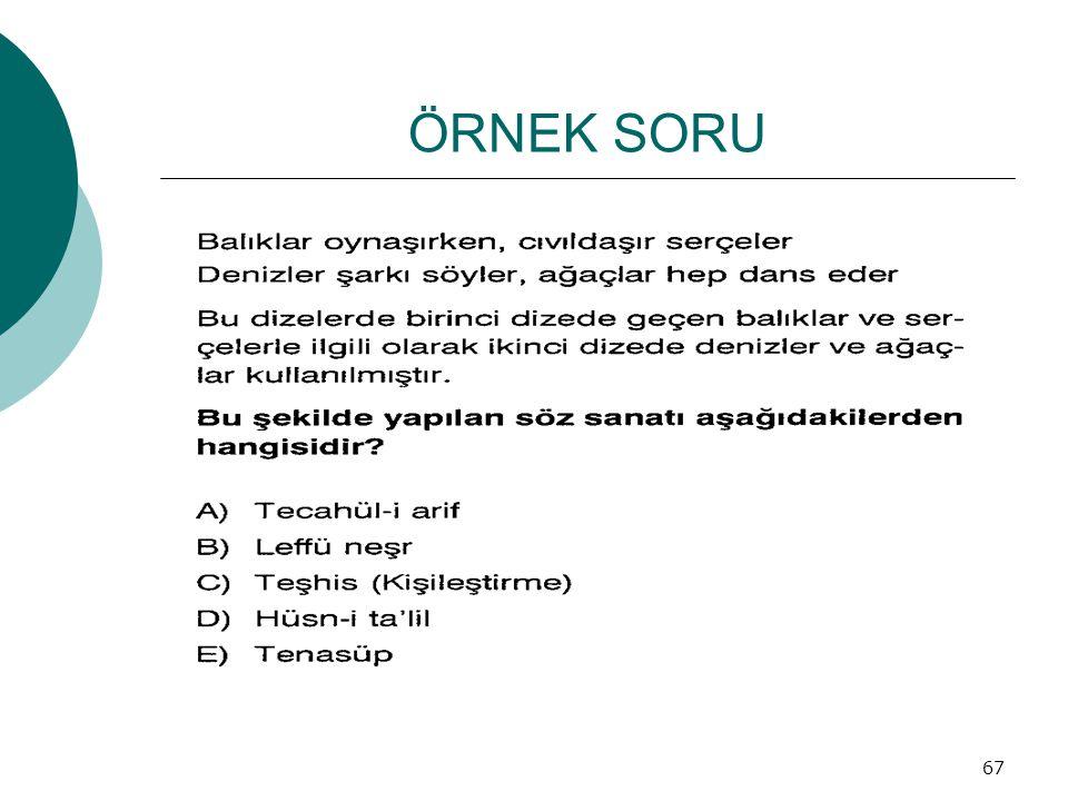 ÖRNEK SORU 67