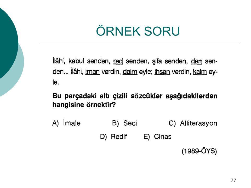 ÖRNEK SORU 77