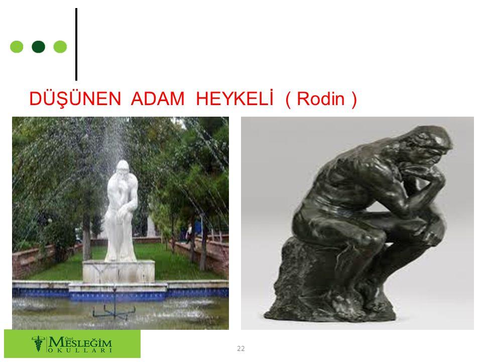 DÜŞÜNEN ADAM HEYKELİ ( Rodin ) 22