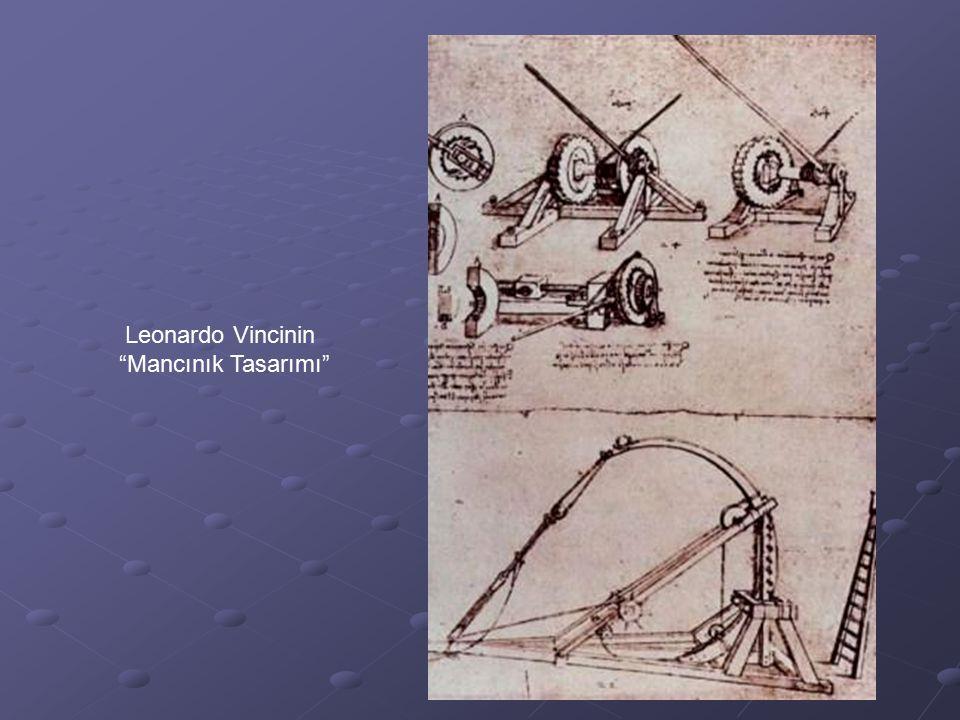 """Leonardo Vincinin """"Mancınık Tasarımı"""""""