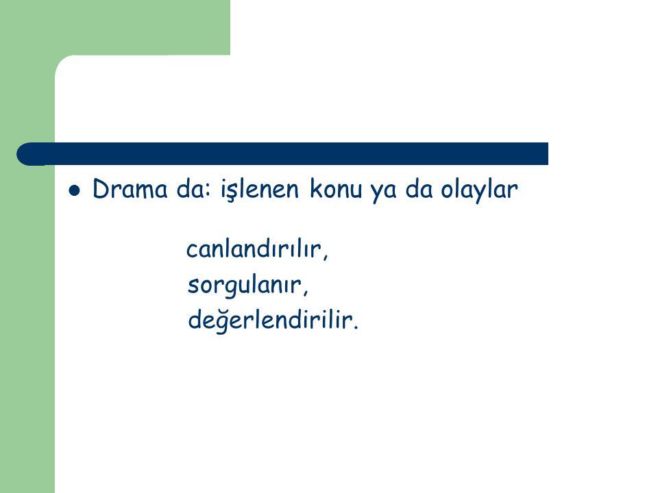 Drama Eğitimde Drama Psikodrama SosyodramaTiyatroda drama