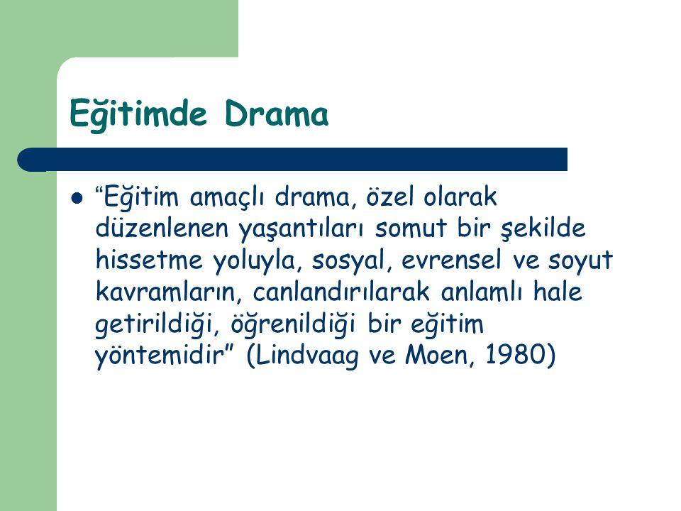 Eğitimde Drama Yaratıcı Drama Süreçsel Drama
