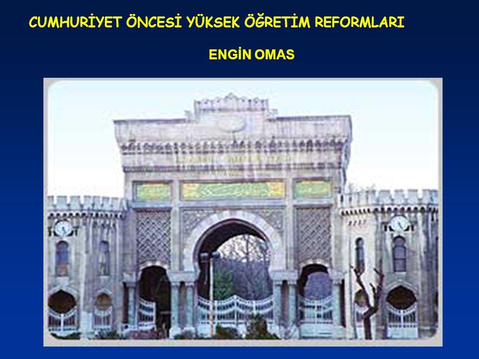 DARÜLFÜNUN-İ SULTANİ Darülfünun-u Osmani'nin 1873'te kapatılmasının ardından Cevdet ve Saffet Paşa'ların katkılarıyla Mekteb-i Sultani'nin (Galatasaray) ileri sınıflarına Mecelle (medeni kanun) ile Roma Hukuku dersleri konulmuştu.