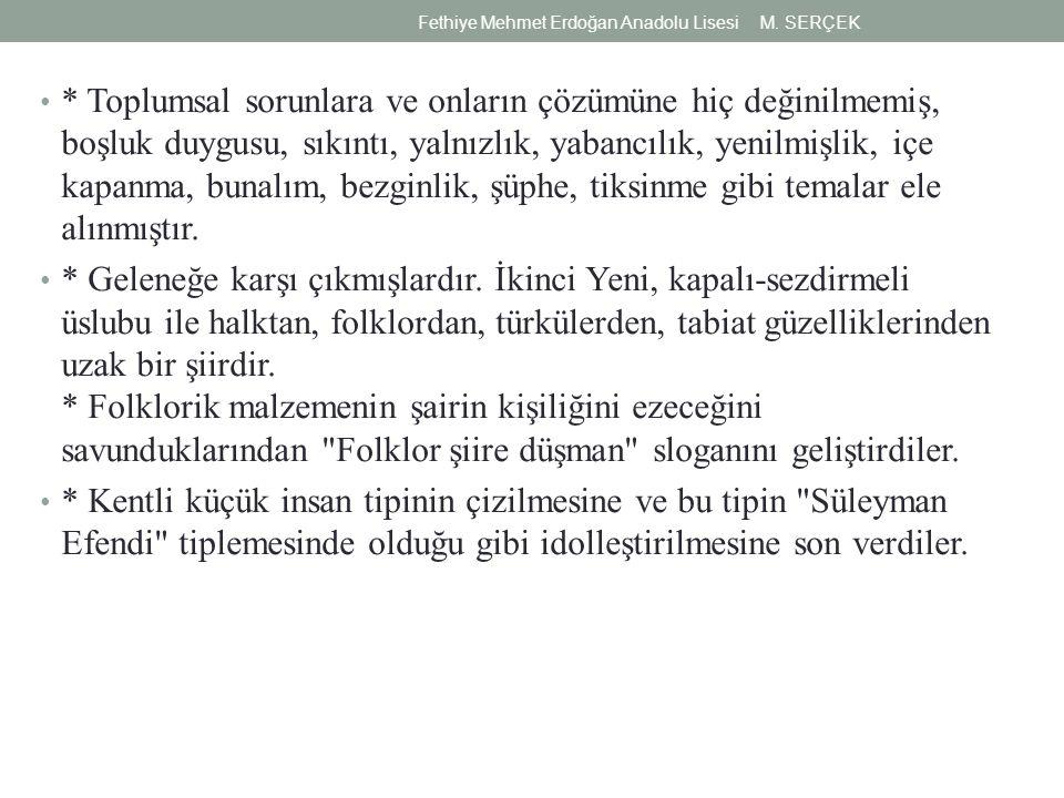 (I) İkinci Yeni şiiri, Garip şiirine bir tepkidir.