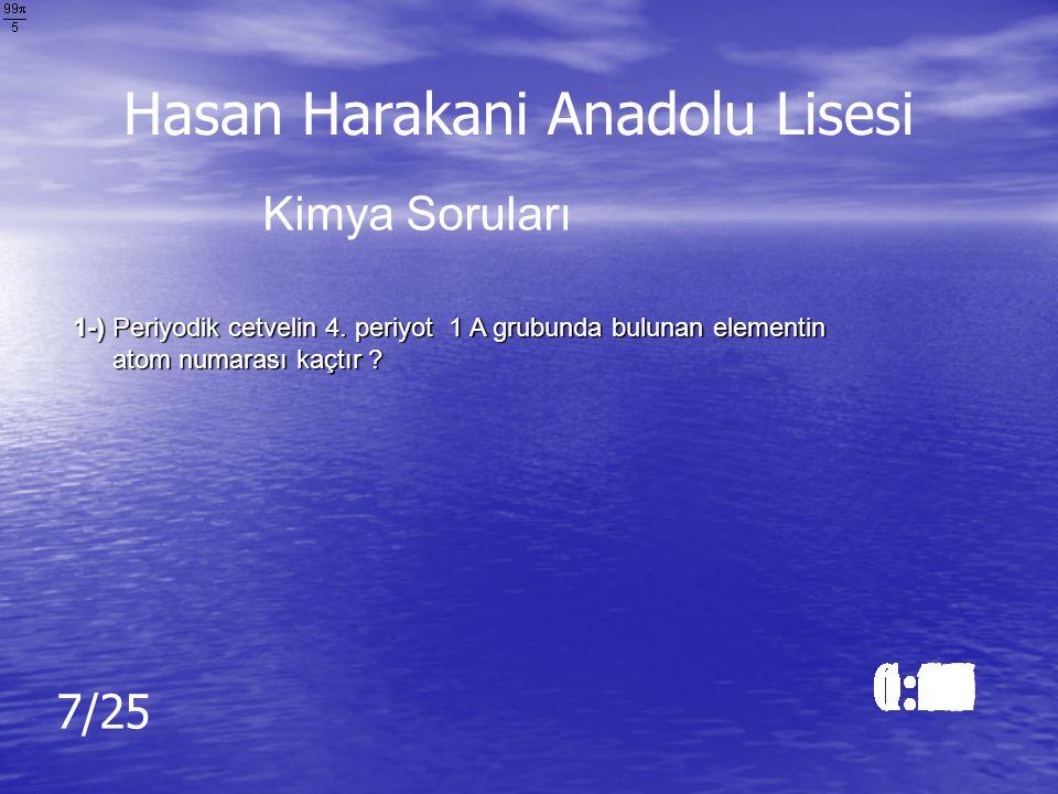 Cevap: 1000 Watt Cevap: 1000 Watt Hasan Harakani Anadolu Lisesi