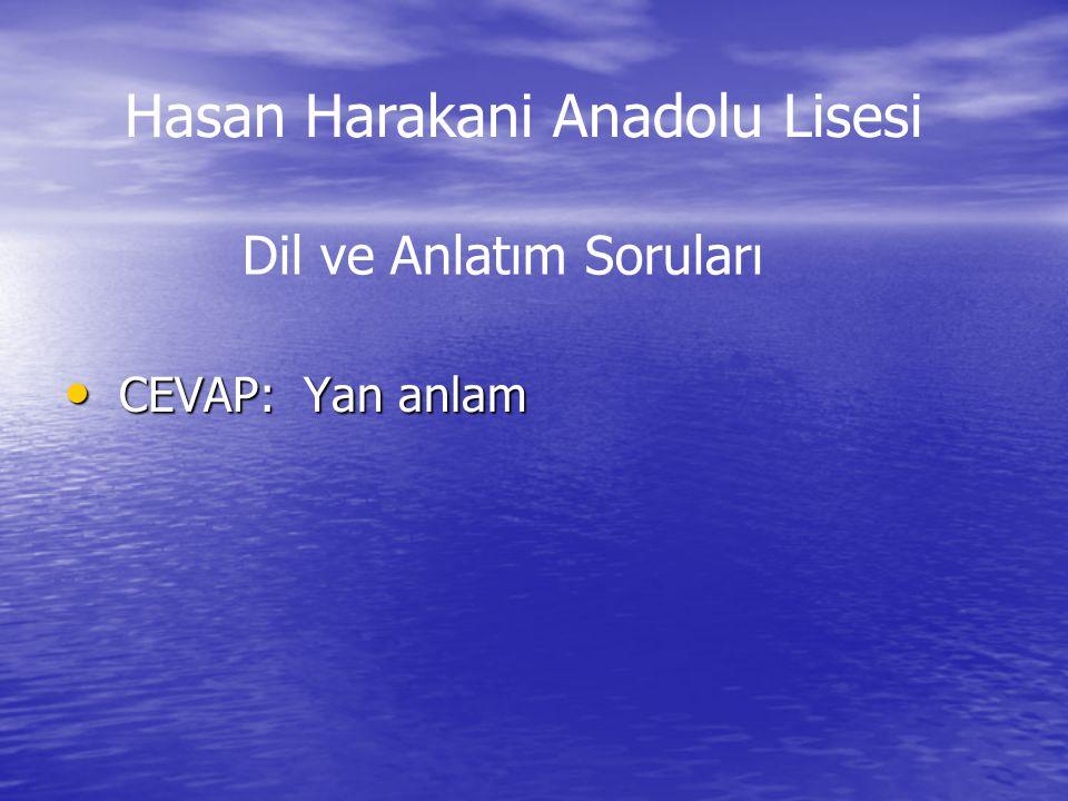 Cevap: a) visit Cevap: a) visit İngilizce Soruları Hasan Harakani Anadolu Lisesi