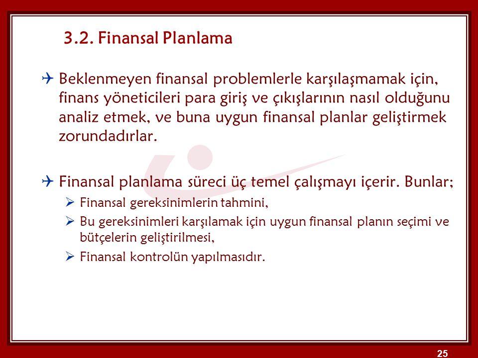 25  Beklenmeyen finansal problemlerle karşılaşmamak için, finans yöneticileri para giriş ve çıkışlarının nasıl olduğunu analiz etmek, ve buna uygun f