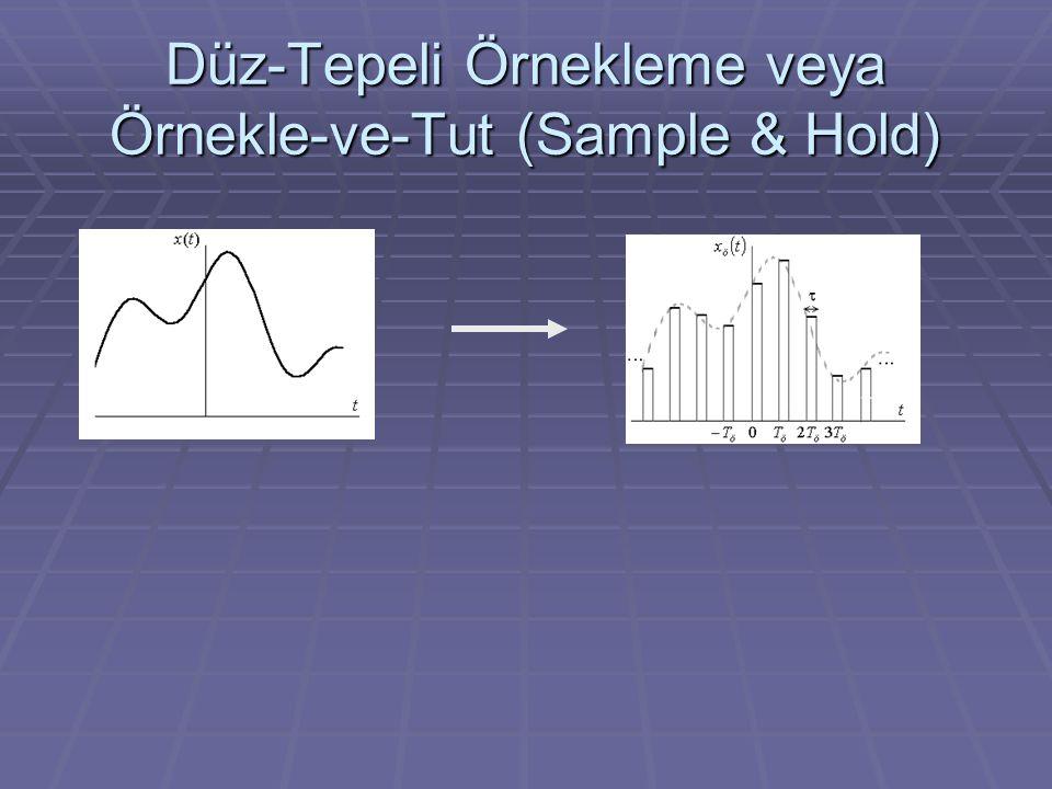 Düz-Tepeli Örnekleme veya Örnekle-ve-Tut (Sample & Hold)