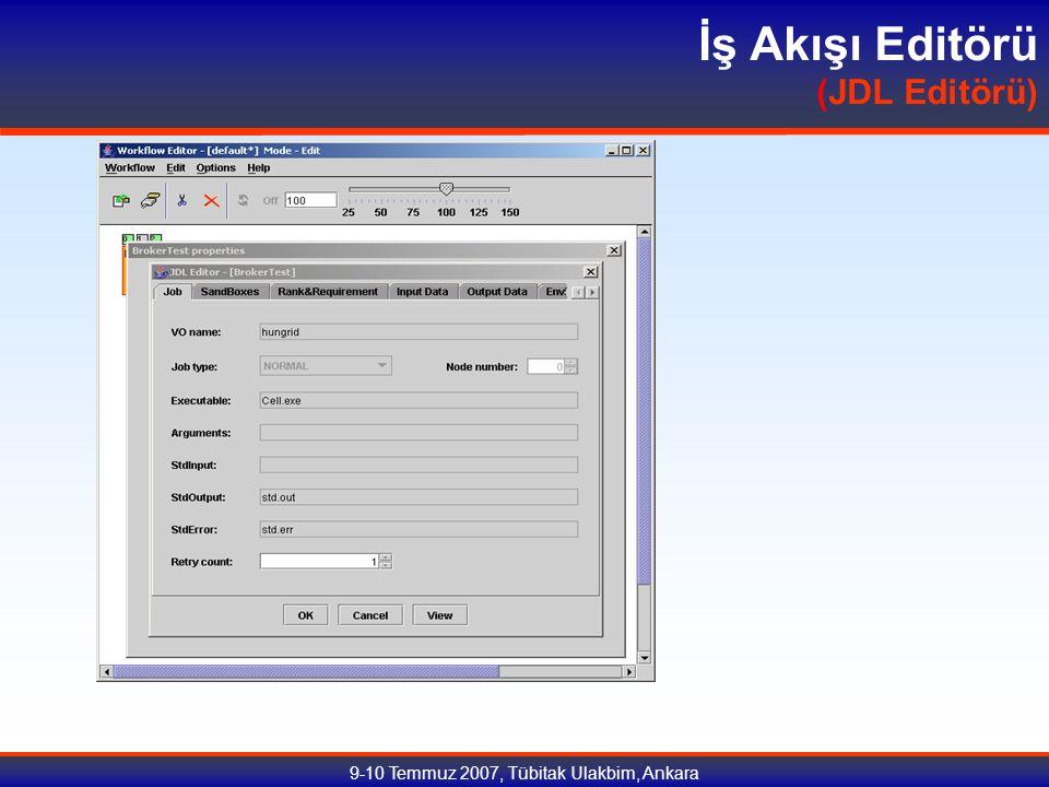 9-10 Temmuz 2007, Tübitak Ulakbim, Ankara İş Akışı Editörü (JDL Editörü)