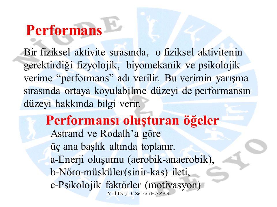 Yrd.Doç.Dr.Serkan HAZAR Performansı etkileyen faktörler nelerdir.