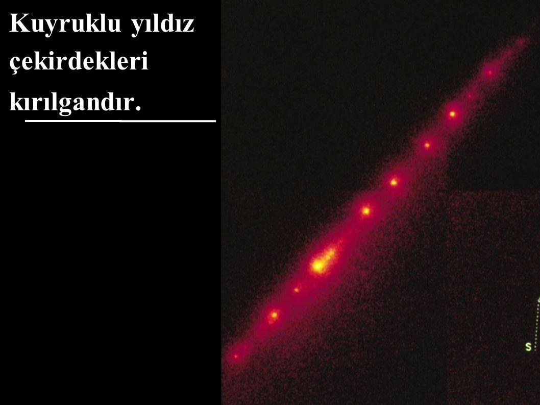 Kuyruklu yıldız çekirdekleri kırılgandır.