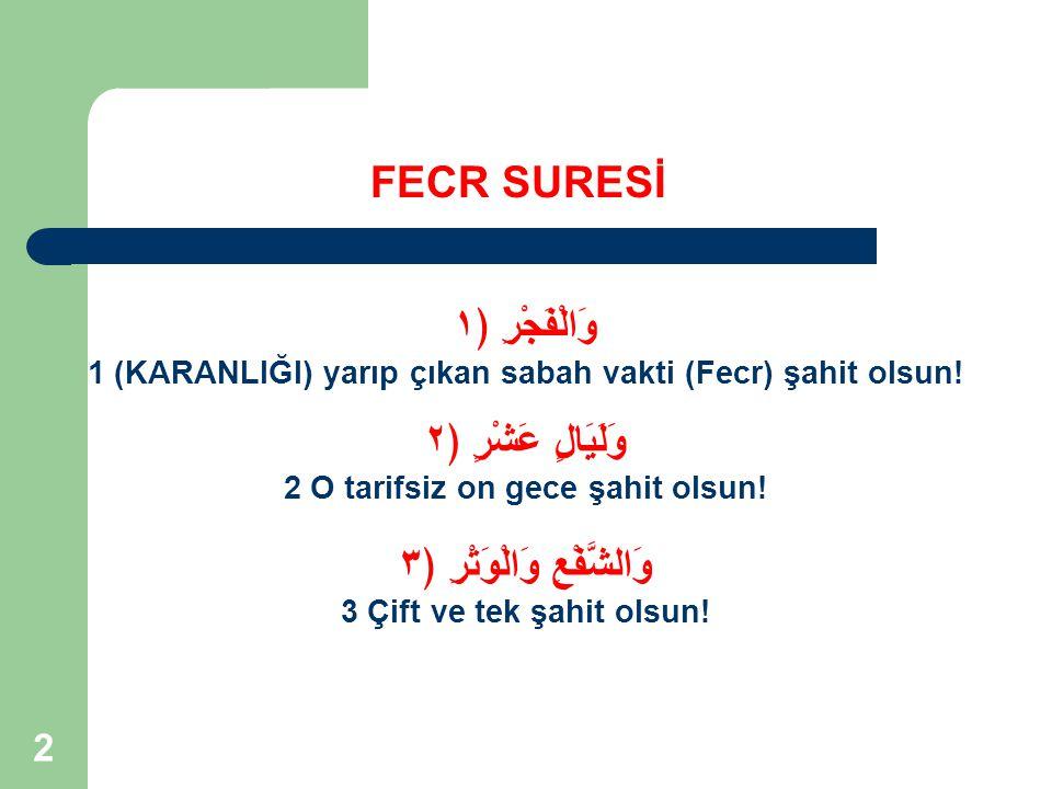 53 FECR SURESİ Burası Hicr denen bölgedeki Vadi'l-Kura'dır.