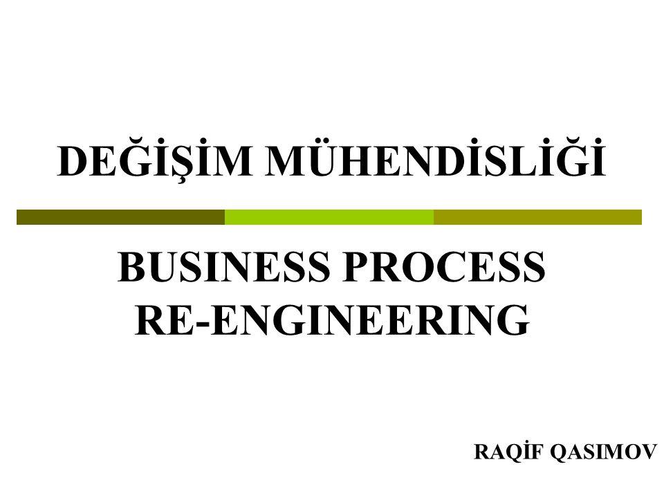 DEĞİŞİM MÜHENDİSLİĞİ BUSINESS PROCESS RE-ENGINEERING RAQİF QASIMOV