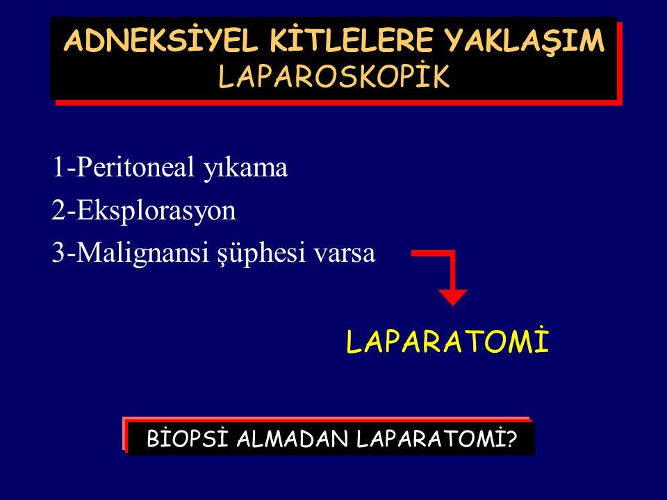 Laparoskopi yapılan 13.739 hastanın yalnızca 53 tanesinde (%0.04) over kanserine rastlanmış. (Hulka 1990) Ancak genel olarak bening olduğu düşünülerek